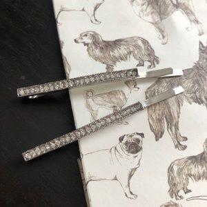 NWOT Handmade Crystal Hair Pin Set of 2